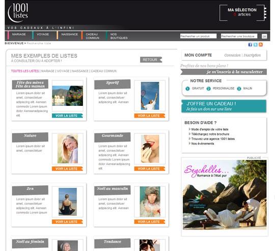 1001 listes espace exemples de listes - 1001 Listes Mariage